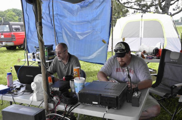 Operators at work during Field Day