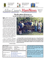 Allen County HamNews 2014-08 cover thumbnail