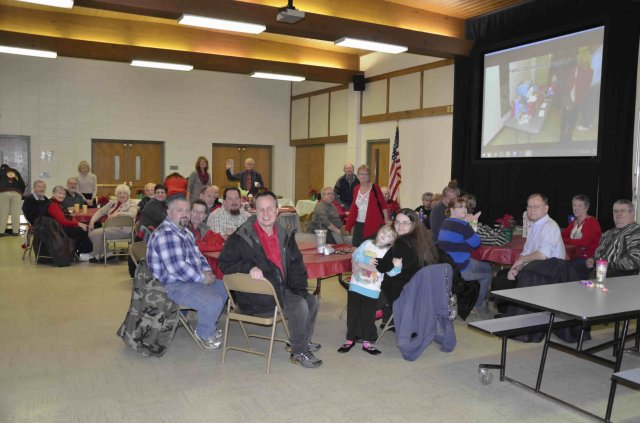 Photo of people in attendance at 2014 FWRC Christmas banquet