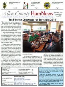 Thumbnail image of October 2019 newsletter.