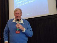 ARRL Central Division Vice Director Carl Luetzelschwab, K9LA speaks to the Fort Wayne Radio Club
